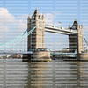 Beautiful Tower Bridge in London with the Union Jack flag blowing on the bridge