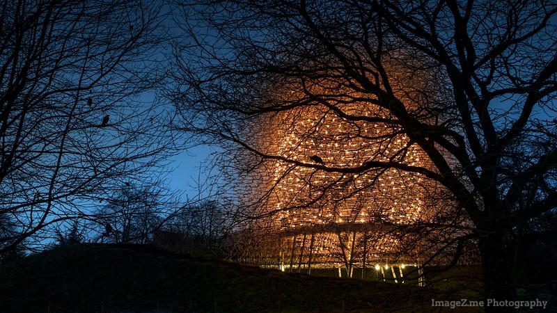 Beehive in Kew Garden at night, London