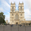 With its front doors open wide, Westminster Abbey is a popular travel destination for tourists.