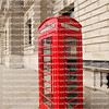Iconic red telephone box stands on London streets