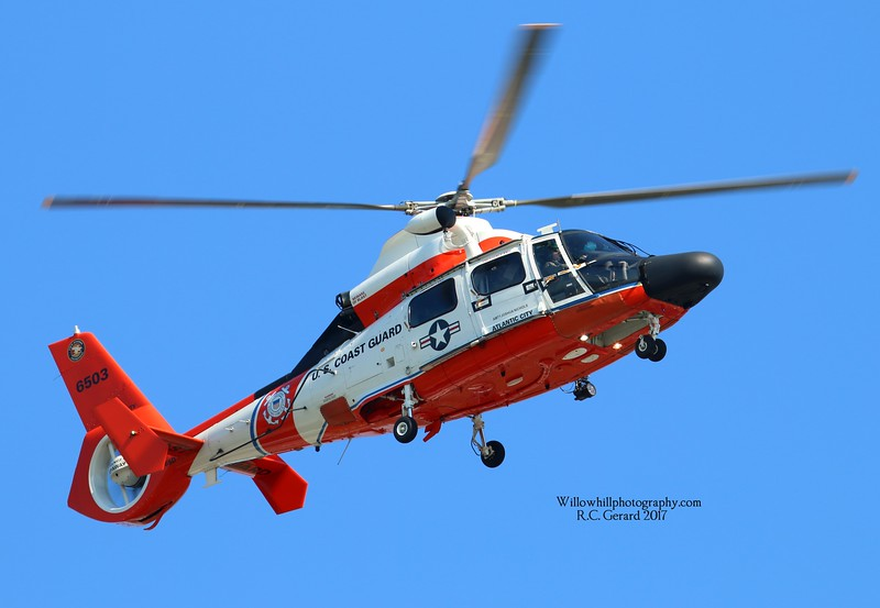 MH-65 6503 arriving at KGON from ATL City