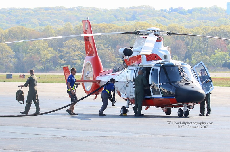 MH-65 6503 taking on fuel