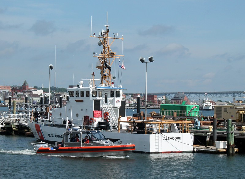 29261 heading out past 87' Patrol Boat Albacore (WPB-87309)