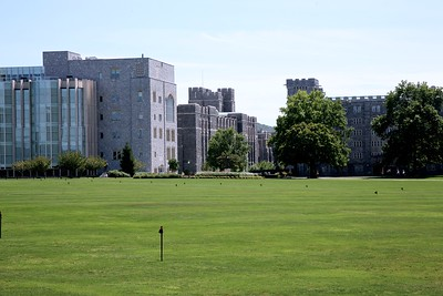 Look toward  The Jefferson Library, Bartlett Hall, and Pershing Barracks At West Point