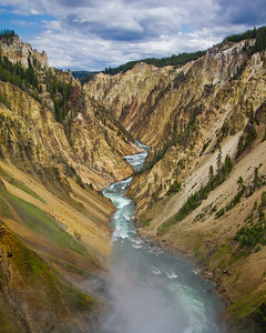 Grand Canyon of the Yellowstone River, Yellowstone National Park, Wyoming, USA