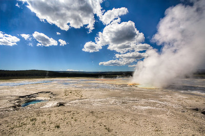 Morning Geyser, Yellowstone National Park, Wyoming, USA