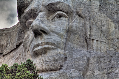 Abe Lincoln, Mt Rushmore National Memorial, South Dakota, USA