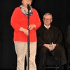 MWCC's Kelly Bator sang the National Anthem and God Bless America.<br /> Sentinel & Enterprise / Jim Fay