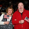 New US Citizens, Karen and Stewart Shepherd who live in Webster are from England.<br /> Sentinel & Enterprise / Jim Fay