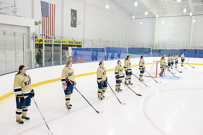 USNA Women's Hockey vs Delaware at the McMullen Hockey Arena in Annapolis, Maryland on 10/27/2017. (Photo by Michael McSweeney for USNA).
