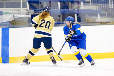 USNA Women's Hockey vs Delaware at the McMullen Hockey Arena in Annapolis, Maryland on 12/1/2017. (Photo by Michael McSweeney for USNA).