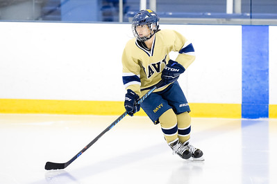 USNA Women's Hockey vs Maryland at the McMullen Hockey Arena in Annapolis, Maryland on 10/21/2017. (Photo by Michael McSweeney).