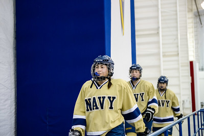 USNA Women's Hockey vs Maryland at the McMullen Hockey Arena in Annapolis, Maryland on 10/20/2017. (Photo by Michael McSweeney).