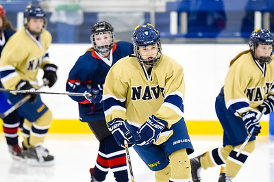 USNA Women's Hockey vs UConn at the Brigade Sports Complex  in Annapolis, Maryland on 2/5/2017. (Photo by Michael McSweeney/USA Warriors).