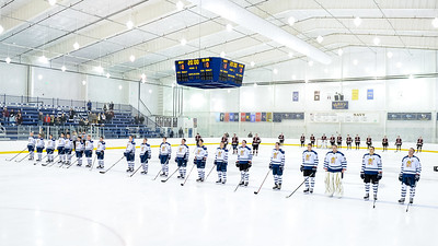 USNA Men's D2 Hockey vs Elon at the Brigade Sports Complex  in Annapolis, Maryland on 12/2/2016. (Photo by Michael McSweeney/USA Warriors).