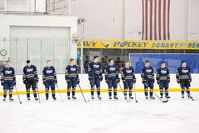 USNA Men's D2 vs GWU at the McMullen Hockey Arena in Annapolis, Maryland on 1/19/2018. (Photo: Michael McSweeney for USNA).