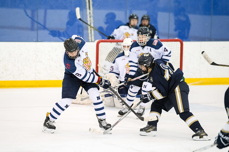 USNA Men's D2 Hockey vs GWU at the Brigade Sports Complex  in Annapolis, Maryland on 1/21/2017. (Photo by Michael McSweeney/USA Warriors).