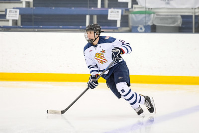 USNA Men's D2 Hockey vs USCGA at the Brigade Sports Complex in Annapolis, Maryland on 1/14/2017. (Photo by Michael McSweeney/USA Warriors).