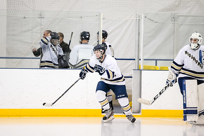 USNA Men's D2 Hockey vs West Virginia at the Brigade Sports Complex in Annapolis, Maryland on 11/4/2016. (Photo by Michael McSweeney/USA Warriors).