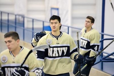 USNA Men's Hockey vs Temple at the McMullen Hockey Arena in Annapolis, Maryland on 11/3/2017. (Photo by Michael McSweeney for USNA).