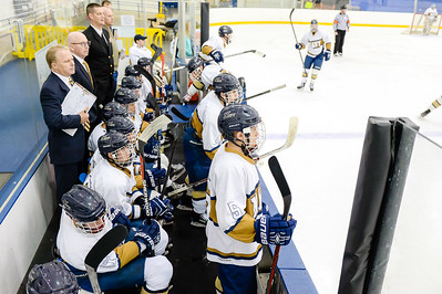 USNA Men's Hockey vs URI at the Brigade Sports Complex  in Annapolis, Maryland on 11/18/2016. (Photo by Michael McSweeney/USA Warriors).