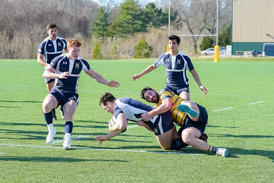 USNA Men's Rugby 1st XV vs Norfolk Blues 1st XV at the Prusmack Rugby Complex - Ernie Blake Field II in Annapolis, Maryland on 3/3/2018. (Photo: Michael McSweeney for USNA).