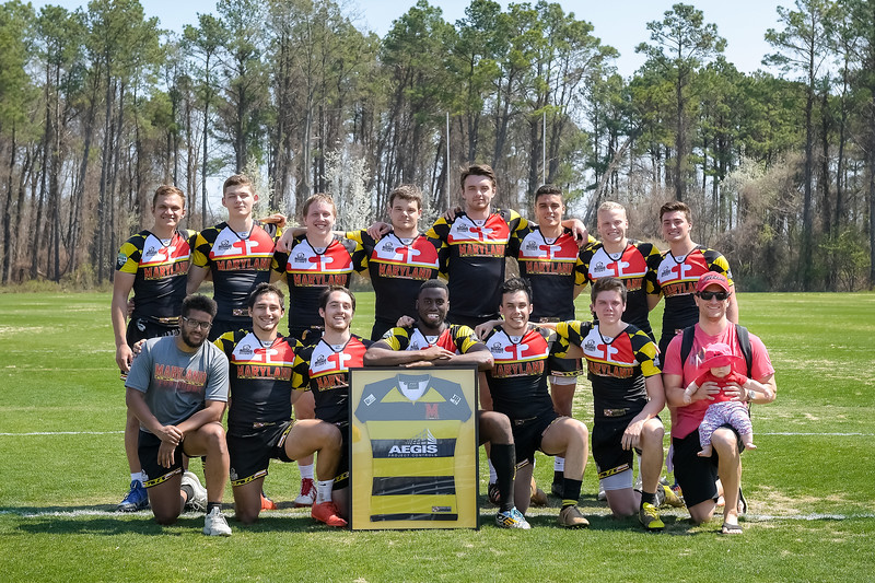 USNA 7s vs Maryland 7s at the Prusmack Rugby Complex - Ernie Blake Field in Annapolis, Maryland on 4/14/2018. (Photo: Michael McSweeney for USNA).