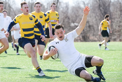 USNA Men's Rugby 2nd XV vs Norfolk Blues 2nd XV at the Prusmack Rugby Complex - Ernie Blake Field II in Annapolis, Maryland on 3/3/2018. (Photo: Michael McSweeney for USNA).
