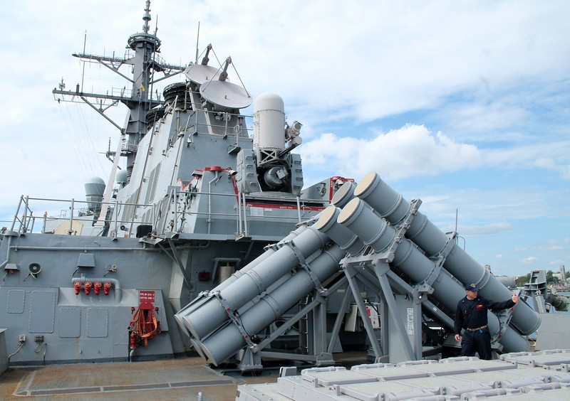 Harpoon Missile Launcher tubes