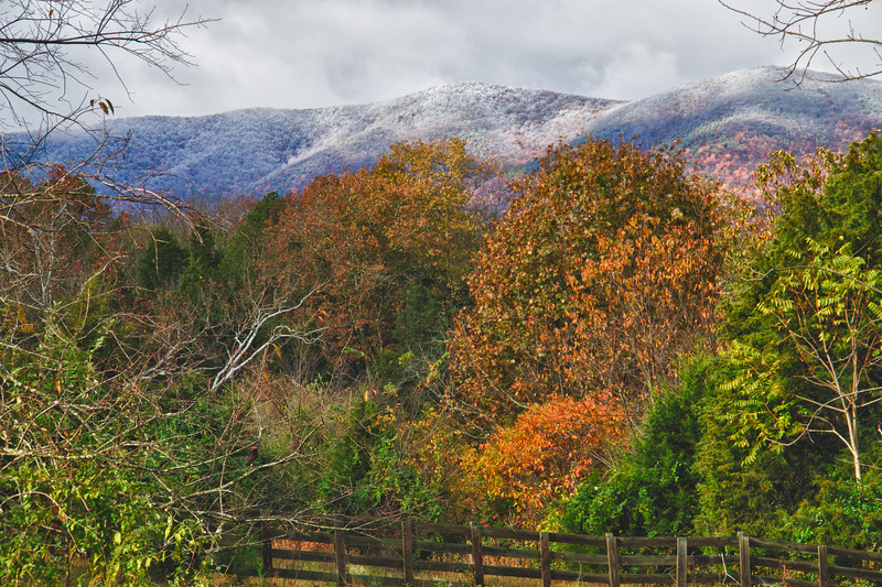 Ice on the Mountaintops, Fall in the Valley #2, Botetourt County