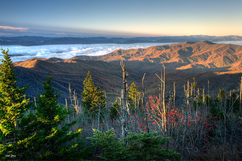 Sunrise and Morning Fog, Great Smoky Mountains National Park