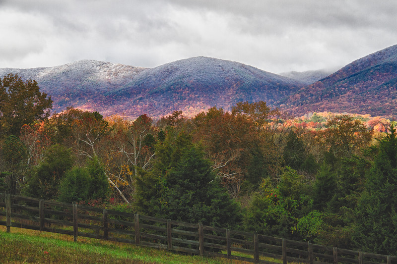 Ice on the Mountaintops, Fall in the Valley, Botetourt County