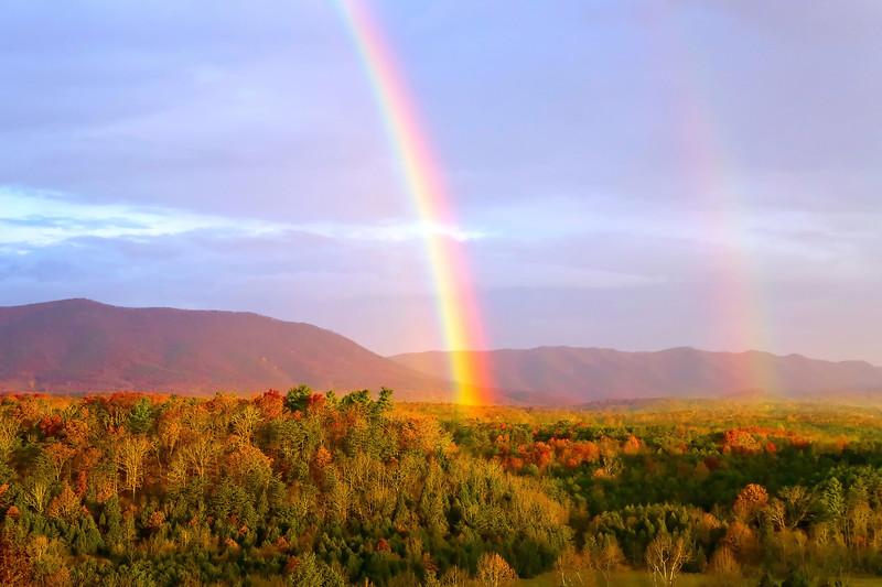 Thanksgiving Morning Rainbow, Caldwell Mountain, Botetourt County