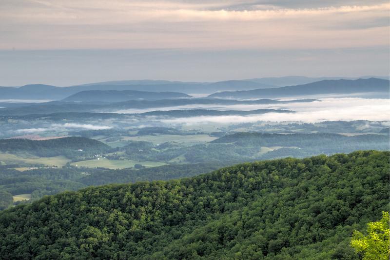 Foggy Morning on the Blue Ridge parkway