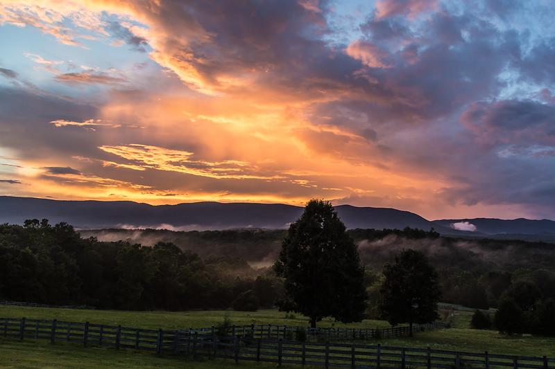Sunset Reflections over Caldwell Mountain, Botetourt Co.