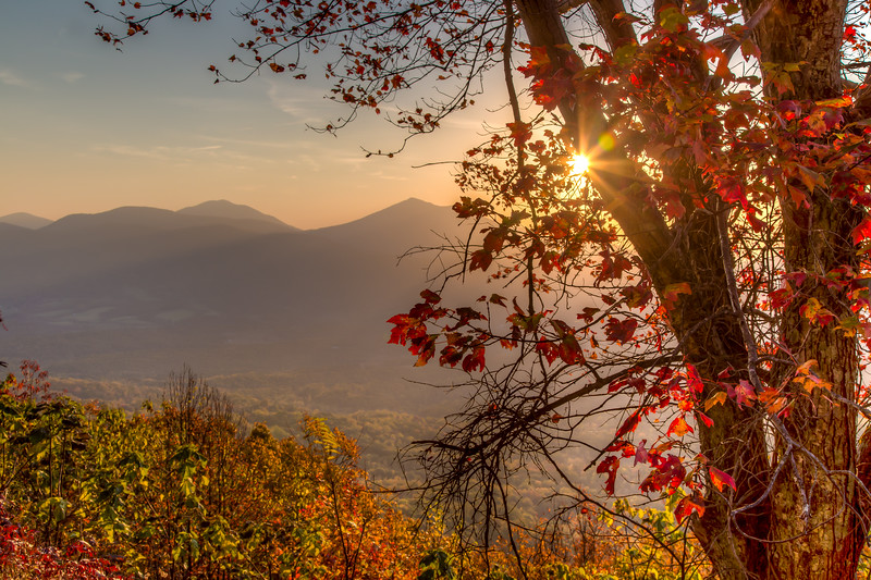 Sunrise over the Peaks of Otter #2 from the Blue Ridge Parkway