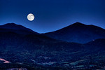 Full Moon over the Peaks of Otter, Blue Ridge Parkway