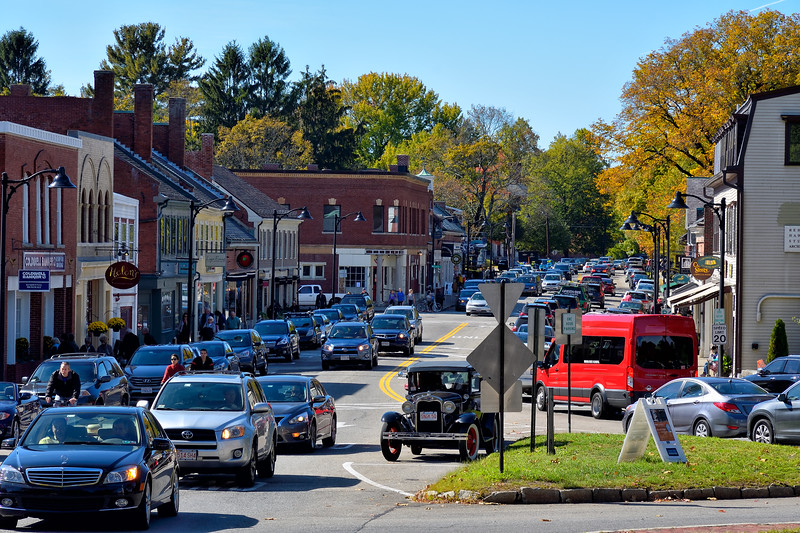 Main Street during leaf peeping season