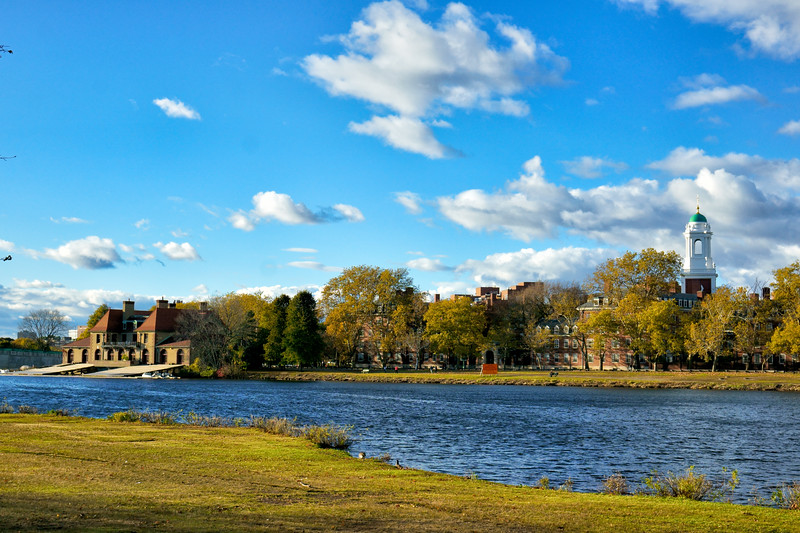 Looking towards Harvard University