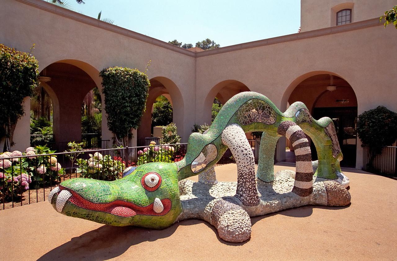 Tile crocodile   Balboa Park   San Diego, California