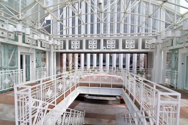 Stairwell detail on East Randolph - Chicago, Illinois