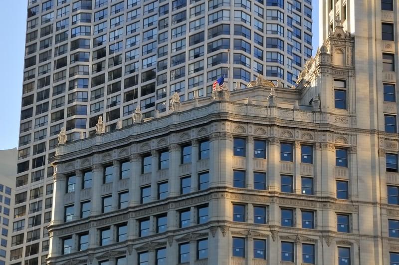 Wrigley Building detail - Chicago, Illinois