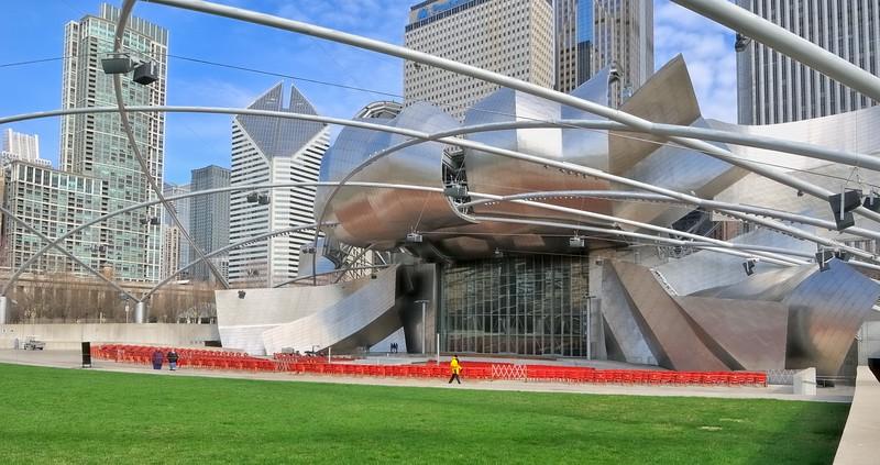 Pritzker Pavilion in Millennium  Park - Chicago, Illinois