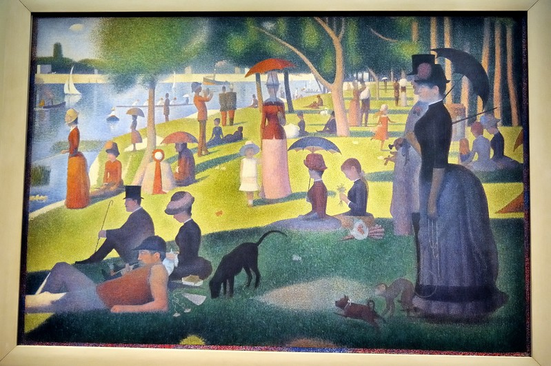 A Sunday Afternoon on the Island of La Grande Jatte - Art Institute - Chicago, Illinois