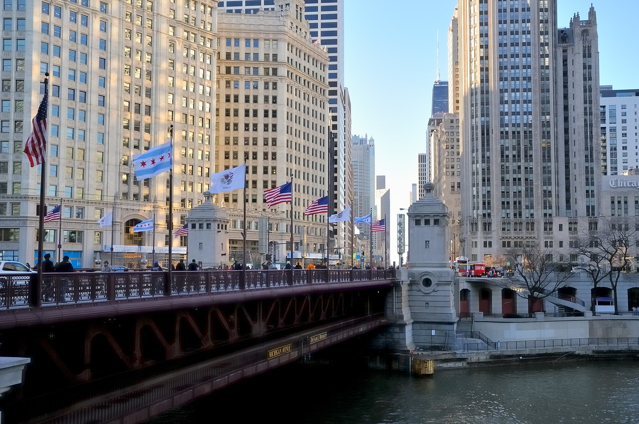 Wrigley Building and Tribune Tower at the Chicago River - Chicago, Illinois