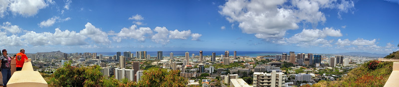 Overlooking Honolulu  Punchbowl  Oahu, Hawaii
