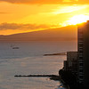 Waikiki sunset   Honolulu, Oahu, Hawaii