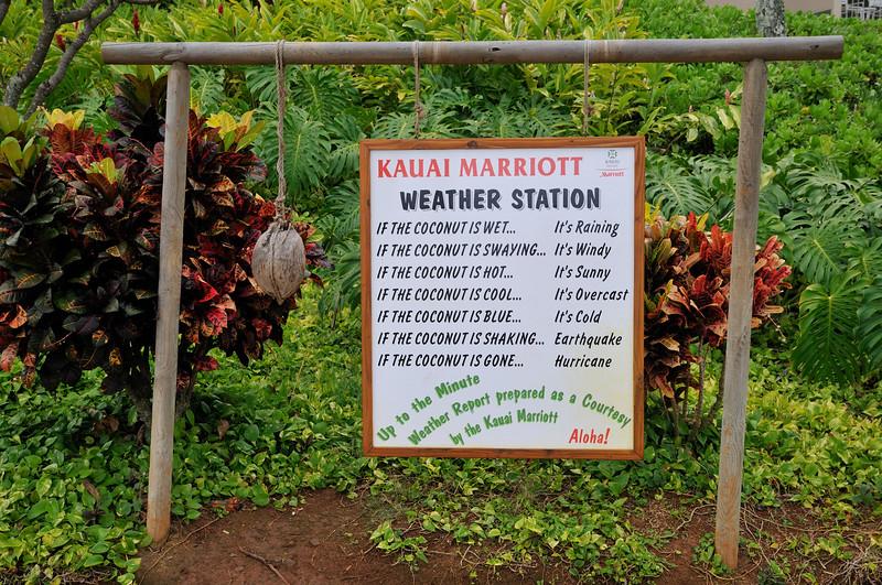 The weather forecast   Kauai, Hawaii