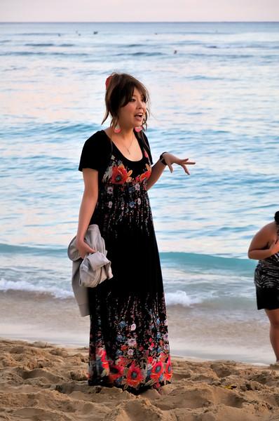 Japanese tourists   Waikiki, Hawaii