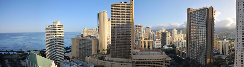Panorama  of Waikiki   Oahu, Hawaii